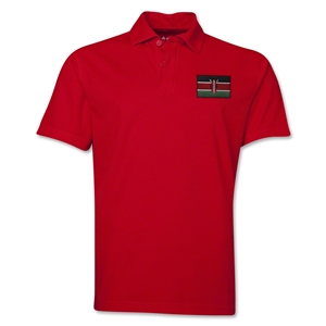Kenya Flag Soccer Polo (Red)