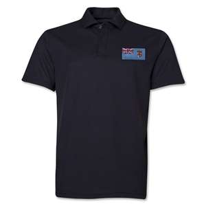 Fiji Flag Soccer Polo (Black)