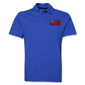 Samoa Flag Soccer Polo (Royal)