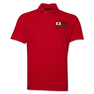 Tonga Flag Soccer Polo (Red)