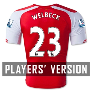 Arsenal 14/15 WELBECK Authentic Home Soccer Jersey