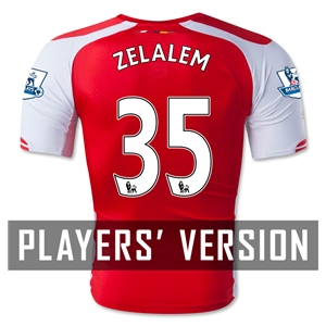 Arsenal 14/15 ZELALEM 35 Authentic Home Soccer Jersey