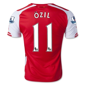 Arsenal 14/15 OZIL Home Soccer Jersey