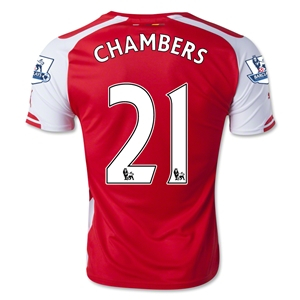 Arsenal 14/15 CHAMBERS Home Soccer Jersey