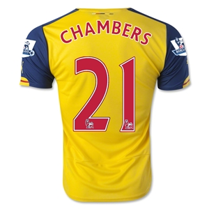 Arsenal 14/15 CHAMBERS Away Soccer Jersey