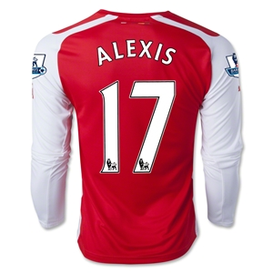 Arsenal 14/15 ALEXIS LS Home Soccer Jersey