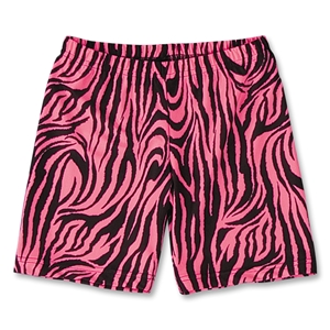Pink Zebra 6 Compression Short (Pink)