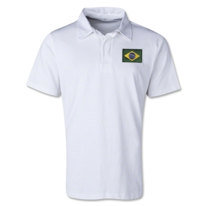 Brazil Retro Flag Shirt (White)