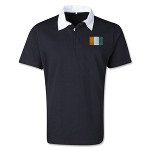 Cote d'Ivoire Retro Flag Shirt (Black)