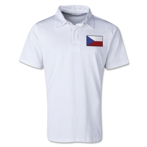 Czech Republic Retro Flag Shirt (White)