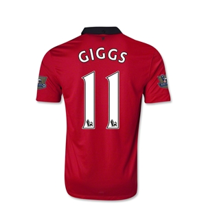 Manchester United 13/14 Ryan Giggs Youth Home Soccer Jersey