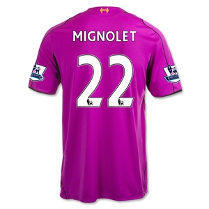 Liverpool 14/15 MIGNOLET Home Goalkeeper Jersey