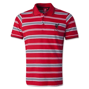 Liverpool FC Striped Polo