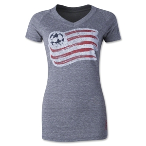 New England Revolution Originals Women's Fan V-Neck T-Shirt