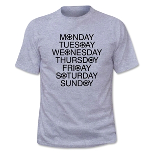 Soccer Days of the Week T-Shirt (Gray)