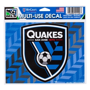 San Jose Earthquakes 5 x 6 Decal