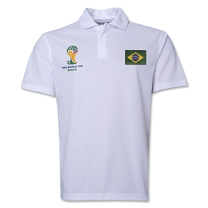 Brazil 2014 FIFA World Cup Polo (White)