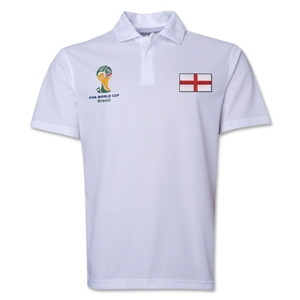 England 2014 FIFA World Cup Polo (White)