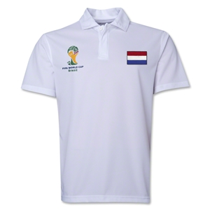 Netherlands 2014 FIFA World Cup Polo (White)