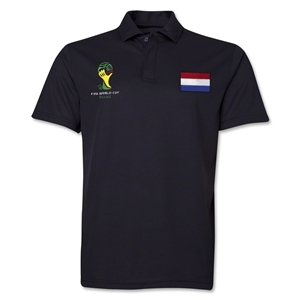 Netherlands 2014 FIFA World Cup Polo (Black)