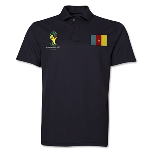Cameroon 2014 FIFA World Cup Polo (Black)