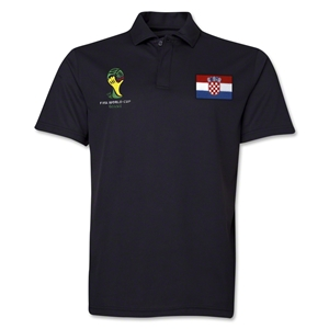 Croatia 2014 FIFA World Cup Polo (Black)