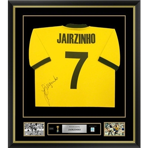 Jairzinho Signed and Framed Brazil Jersey