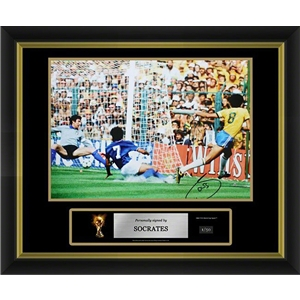 Socrates Signed Brazil Photo 3