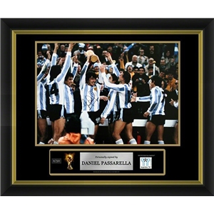 Daniel Passarella Signed Argentina Photo