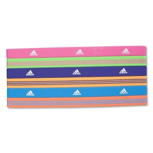 adidas Women's Sidespin Hairband II 6 Pack (Green/Alligators)
