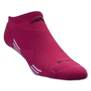 adidas Women's ClimaCool X 2 Pack No Show Sock (Black/Pink)