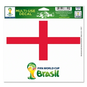 England FIFA World Cup 2014(TM) 5 x 6 Decal
