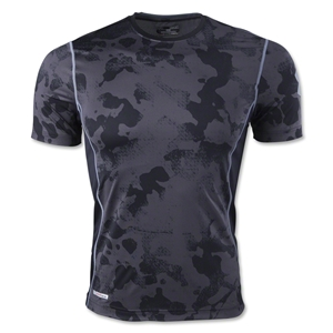 Under Armour HeatGear Sonic Fitted Printed T-Shirt (Black)