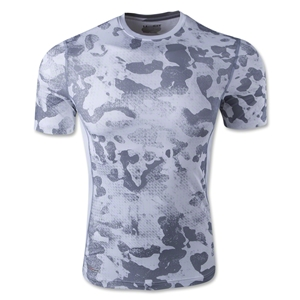 Under Armour HeatGear Sonic Fitted Printed T-Shirt (White/Gray)
