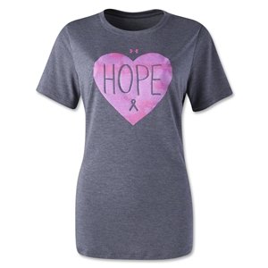 Under Armour Women's PIP Hope Crew T-Shirt (Black/Pink)