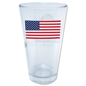 USA 2014 FIFA World Cup Brazil(TM) Pint Glass