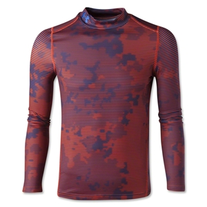 Under Armour Youth ColdGear EVO Fitted Long Sleeve Mock (Red/Blk)