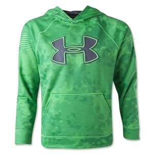 Under Armour Youth Armour Fleece Storm Big Logo Novelty Hoody (Green)