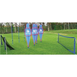 Soccer Wall T-Man Set plus Soccer Tennis Net and 2 Goal Nets