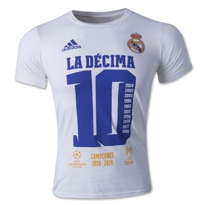 Real Madrid Official UCL 2014 Winners T-Shirt