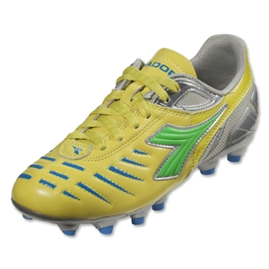Diadora Women's Maracana L (Yellow Fluo/Lime/Royal)