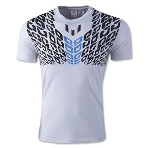 adidas Messi Graphic T-Shirt (White)