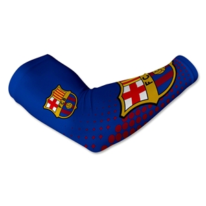 Barcelona Crest Arm Sleeve-Blue (Pair)
