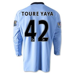 Manchester City 12/13 TOURE LS Home Soccer Jersey