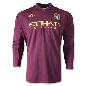 Manchester City 12/13 LS Away Soccer Jersey