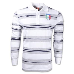 Italy Classic Striped Polo (White)