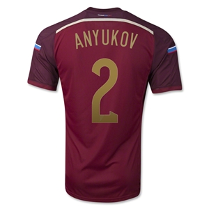 Russia 2014 ANYUKOV Authentic Home Soccer Jersey