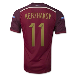 Russia 2014 KERZHAKOV Authentic Home Soccer Jersey