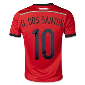 Mexico 2014 G. DOS SANTOS Youth Away Soccer Jersey