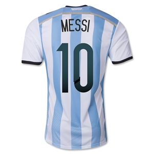 Argentina 2014 MESSI Authentic Home Soccer Jersey